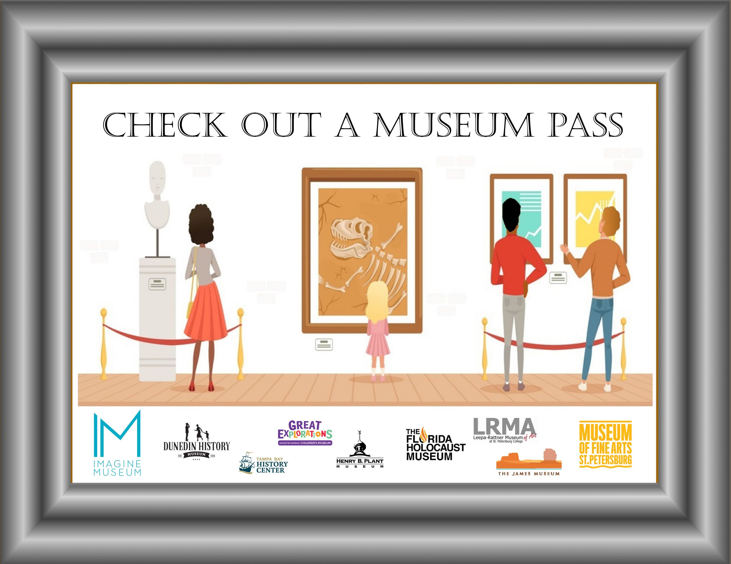 Check Out a Museum Pass with participating museum logos